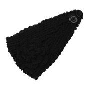 SEEKO Fashion Women Lady Camellia Warm Soft Wool Crochet Headband Knit Wide Hair Band Headwear