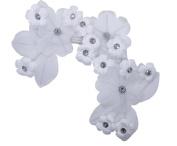 Exquisite 25cm x 10cm Lace Wedding Bridal Rhinestone Flower Headpieces