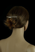 Bridal Tiara Hair Comb Silver Rhinestone Single Row