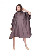 XMW Professional All purpose Styling Cape with Snaps Brown