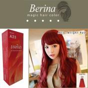 Berina Hair Colour A23 Cream Bright Red Permanent Hair Dye Super Colour