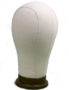 Eseewigs Water Repellant Canvas Wig Head for Wig Styling and Display Premium Quality Wig Stand