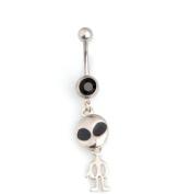 Oasis Plus Alien ET Black Crystal Navel Ring Rhinestone Belly Button Rings Hoop Body Glitter Piercing Jewellery
