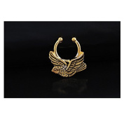 Oasis Plus Retro Bronze Clip On Septum Fake Nose Ring Hoop Non Piercing Hanger Nose Rings Stud Body Jewellery