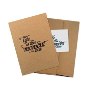 "Conscious Ink ""Life Is This Moment Now"" Manifestation Tattoo Greeting Card With Temporary Tattoo"