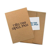 "Conscious Ink ""This Too Shall Pass"" Manifestation Tattoo Greeting Card With Temporary Tattoo"
