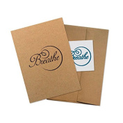 "Conscious Ink ""Breathe"" Manifestation Tattoo Greeting Card With Temporary Tattoo"