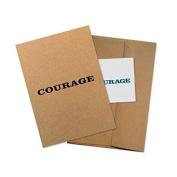 "Conscious Ink ""Courage"" Manifestation Tattoo Greeting Card With Temporary Tattoo"