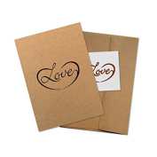 "Conscious Ink ""Love"" Manifestation Tattoo Greeting Card With Temporary Tattoo"