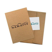 "Conscious Ink ""Namaste"" Manifestation Tattoo Greeting Card With Temporary Tattoo"