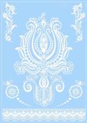 White Lace Henna Design Tattoo Elegant Body Art Temporary India Bridal Waterproof Tattoos Sticker