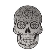 Silver Metallic Sugar Skull Jewellery Temporary Tattoo