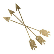 Three Crossed Arrows Gold Metallic Jewellery Temporary Tattoo