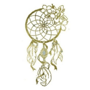 Dreamcatcher with Flowers Metallic Gold Jewellery Temporary Tattoo