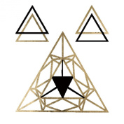 Geo Trianles Metallic Gold Jewellery Temporary Tattoos