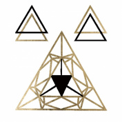 Geo Trianles Metallic Gold Jewellery Temporary Tattoos
