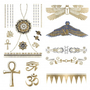 Walk Like an Egyptian - Metallic Gold & Silver Jewellery Temporary Tattoos to Make You Feel Like a Goddess