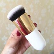 White Big Round Foundation Brush for Girls