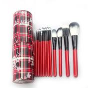 Kolight® New Fashion Portable 14pcs Makeup Brush Sets Leather Cup Holder Case
