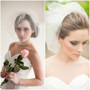 Exquisite 38cm x 90cm 2 layer Wedding Bridal Veil with Comb