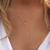 A & C 2015 Hot Cakes Individuality Alloy Triangle Pendant Lariat Style Chain Jewellery Necklaces for Women.