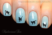 NAILICIOUS TEN Cute Cats Design Nail Wraps Water Transfers 21pcs Decals ST8179