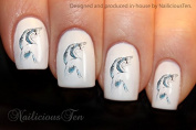 NAILICIOUS TEN Beautiful Swans Nail Wraps Art Water Transfer Decal 21pcs ST8186