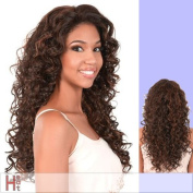 L. LUCY (Motown Tress) - Heat Resistant Fibre Lace Front Wig in DARKEST BROWN