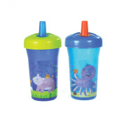 The First Years Simple Straw Cup - 270ml, 2 pack, Blue
