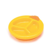 Foryee Baby Keeping Warm Stay Put Divided Suction Warming Plate - Yellow