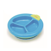 Foryee Baby Keeping Warm Stay Put Divided Suction Warming Plate - Blue