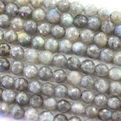 Faceted Natural Labradorite 6mm Round Findings Jewerlry Making Gemstone Beads