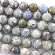 Faceted Natural Labradorite Round 12mm Findings Jewerlry Making Gemstone Beads