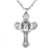 ZARABE Claddagh Cross Ashes Memorial Urn Pendant With Chain Necklace Cremation Jewellery