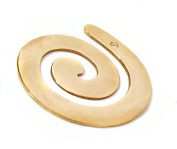 NinjaCraftersTM Five (5) Brass Spiral Diecut Stamping Blank, Swirl Shape, 18 Gauge (.050) For Handstamping, Pack of 5