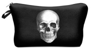 Skull Rock Cosmetic Makeup Pencil Bag Case Clutch Pouch Purse Zipper Handbag