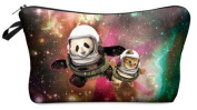 Panda Cat Galaxy Cosmetic Makeup Pencil Bag Case Clutch Pouch Purse Zipper Handbag