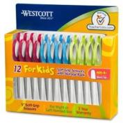 Junior Scissors, Blunt Tip, 13cm Full, 12/PK, STST/Ast, Sold as 1 Package, 12 Each per Package