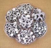 900pcs Mixed Size Wiggly Googly Eyes with Self-adhesive DIY Scrapbooking crafts Model