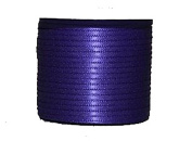 "1/16"" (1.5 mm)Double Face Satin Ribbon 300 Yard Roll Purple haze"
