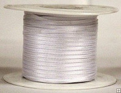 """1/16"""" (1.5 mm)Double Face Satin Ribbon 300 Yard Roll White"""