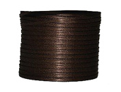 """1/16"""" (1.5 mm)Double Face Satin Ribbon 100 Yard Roll Brown"""
