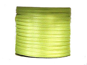 "1/16"" (1.5 mm)Double Face Satin Ribbon 100 Yard Roll Neon Yellow"