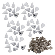 DIY Decoration Leathercraft Shoes Cone Spikes Screwback Rivet Studs Pack of 50