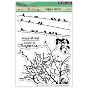 Penny Black Happy Notes Clear Stamps Sheet, 13cm x 17cm