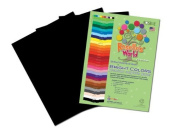 Roselle Bright 23cm x 30cm Colours Suphite Construction Paper, 50 Sheets Per Package, Black (70601) Colour: Black Size