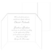 5 5/16 Square Invitation Gate Fold - LCI Radiant White, 25 pack