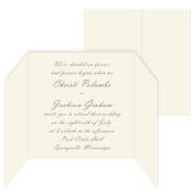 5 5/16 Square Invitation Gate Fold - LCI Ecru, 25 pack