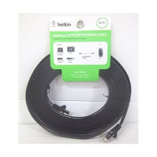 Belkin F2CP010-25 Cat.5e UTP Flat Network Cable - Category 5e for Network Device - 7.6m - 1 x RJ-45 Male Network - 1 x RJ-45 Male Network - Black