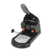 Two-Hole Punch, 65 Sheet Capacity, 0.6cm , Black, Sold as 1 Each